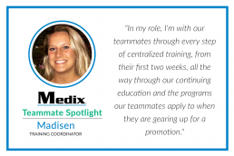 Training Teammate Spotlight Madisen