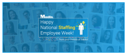 National Staffing Employee Week 2019 Medix