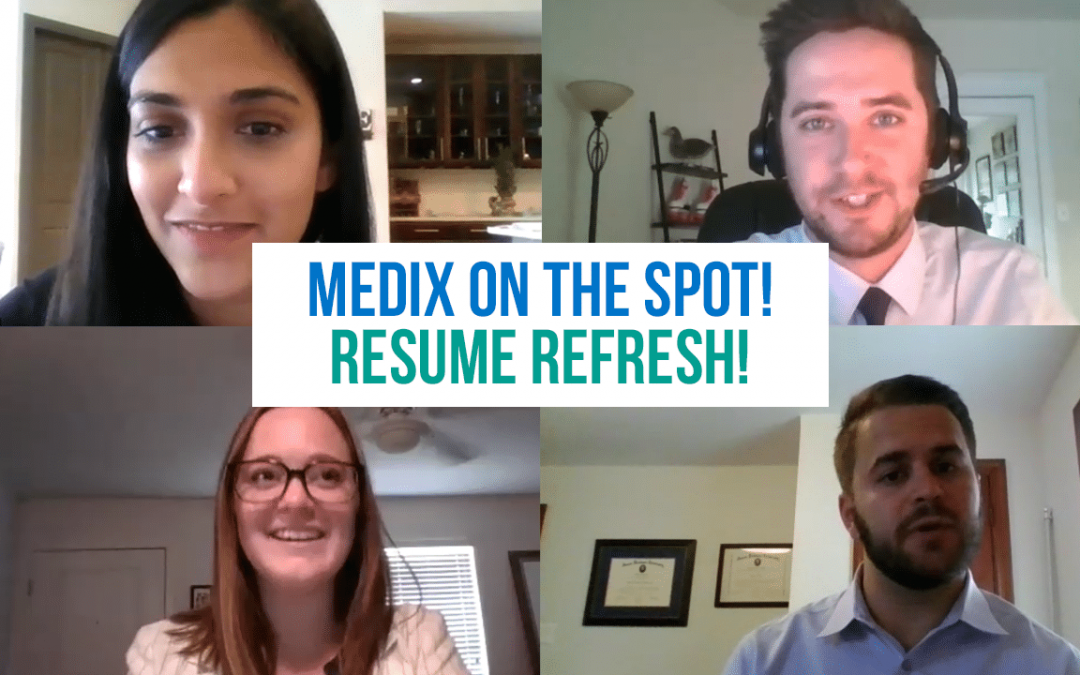 Medix on the Spot - Resume Refresh - Screenshot
