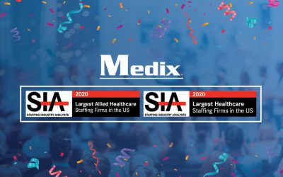 "Medix Ranks on Staffing Industry Analysts' ""2020 Largest Healthcare Staffing Firms List"" and ""2020 Largest Allied Healthcare Staffing Firms List"""