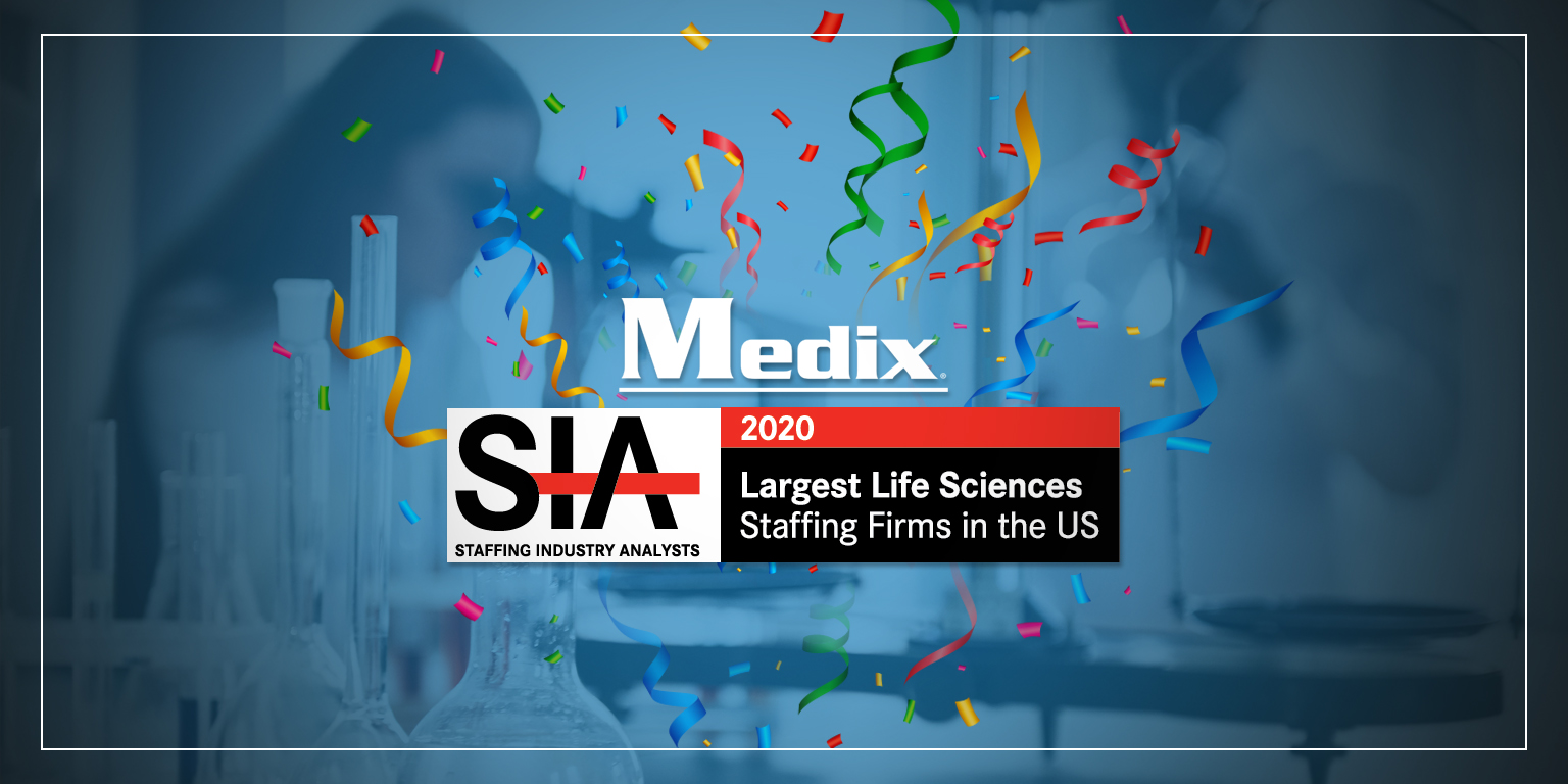 Medix Ranks on Staffing Industry Analysts 2020 Largest Life Sciences Staffing Firms List