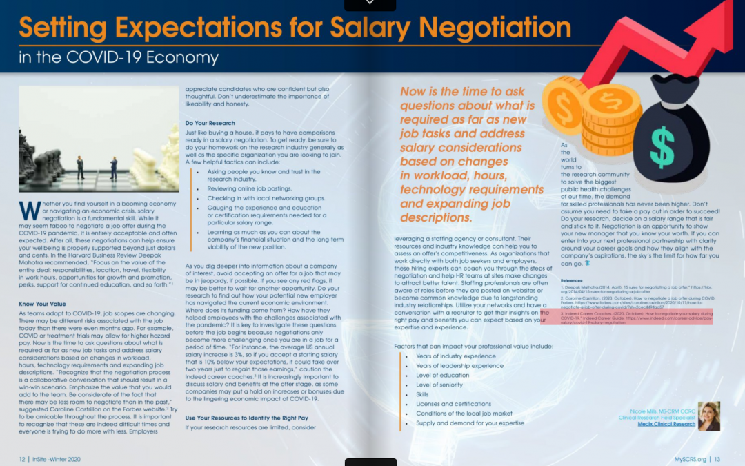 Setting Expectations for Salary Negotiation in the COVID-19 Economy