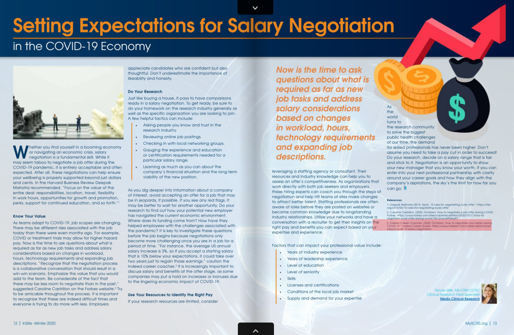 Setting Expectations for Salary Negotiation in the COVID-19 Economy Medix SCRS Insite December 2020