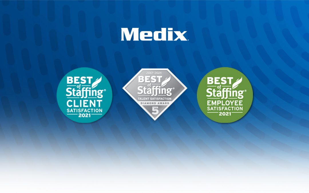Medix Wins Clearly Rated's 2021 Best of Staffing® Talent, Client and Employee Awards