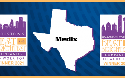 Medix Named Among Houston and Dallas/Fort Worth's 2021 Best and Brightest Companies to Work For®